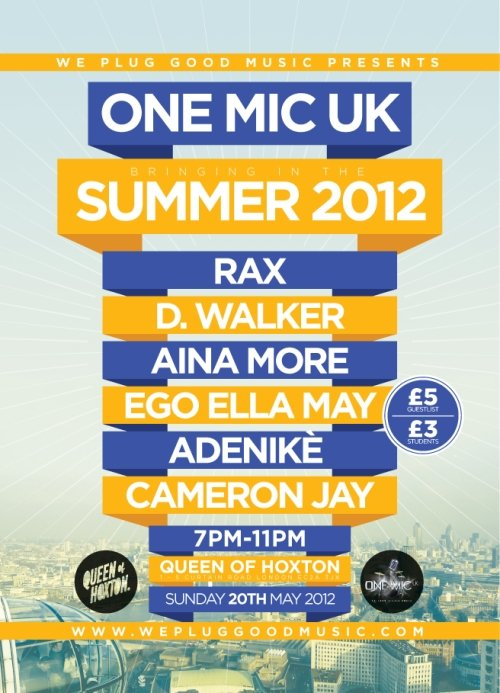 One Mic UK… Bringing In The Summer 2012 (Event)