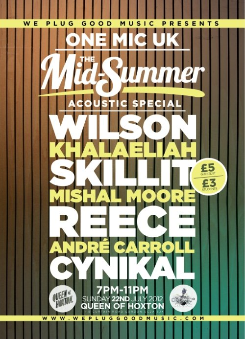 One Mic UK… The Mid-Summer Acoustic Special