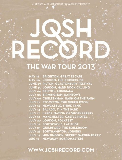Josh Record Announces UK Tour Dates